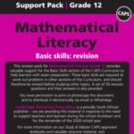 Maths literacy grade 12 support pack