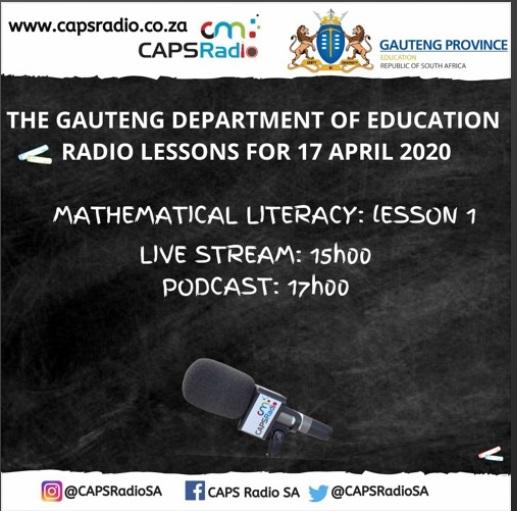CAPS Radio lessons